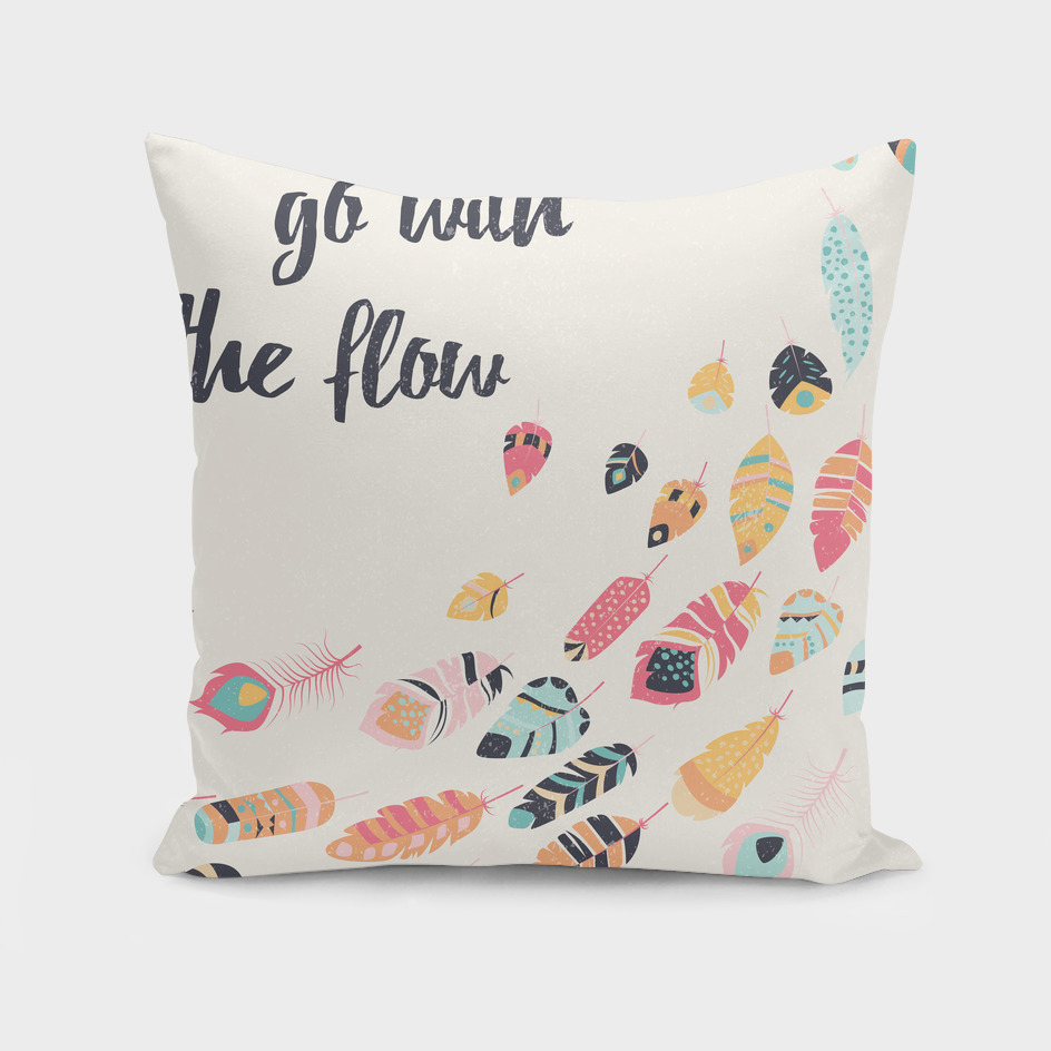 Go with the flow tribal feathers