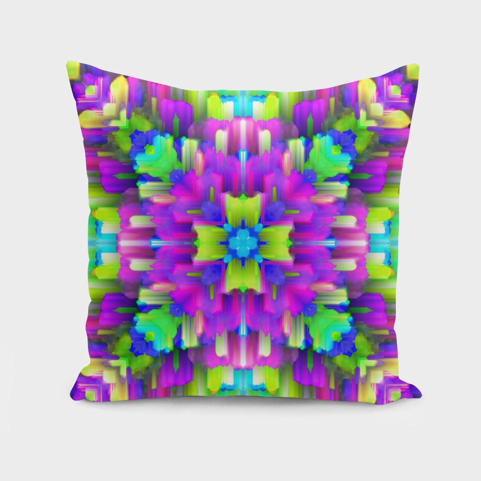Colorful digital art splashing C21