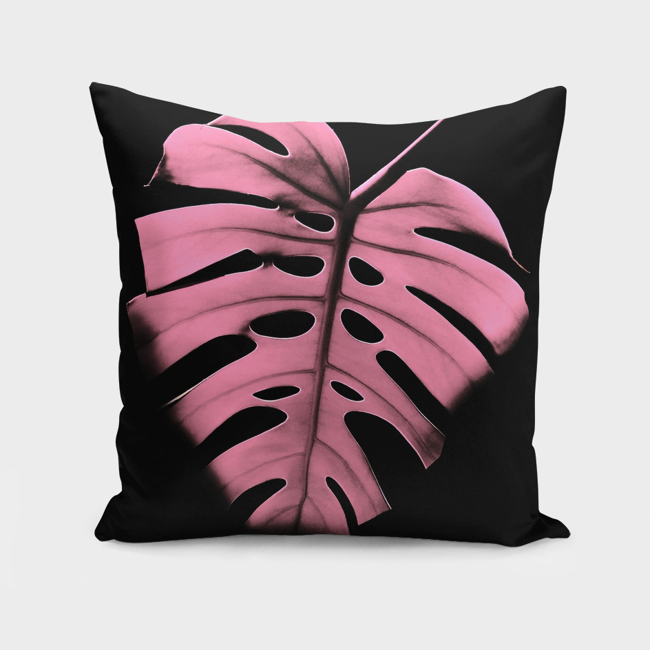 Monstera Portrait in Pink