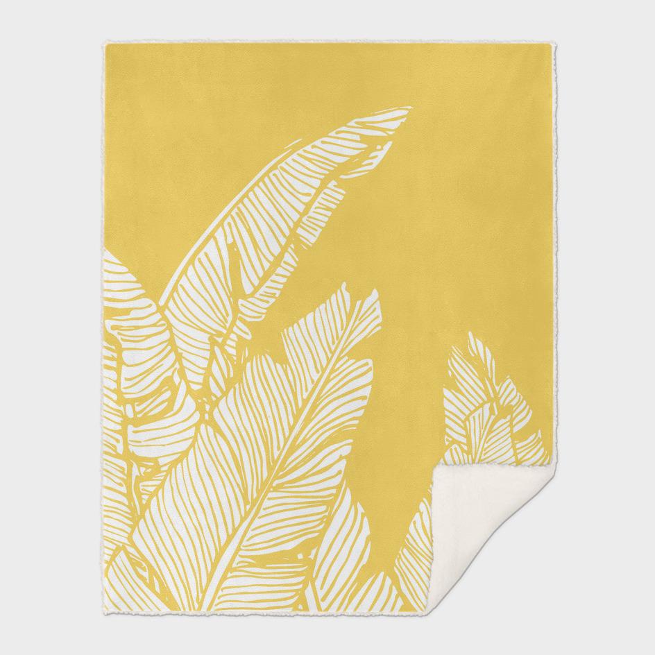 Banana Leaves on Yellow