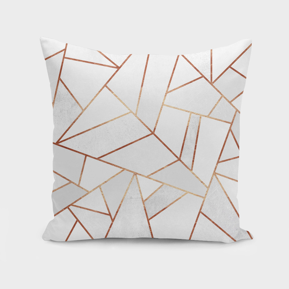 White Stone and Copper Lines