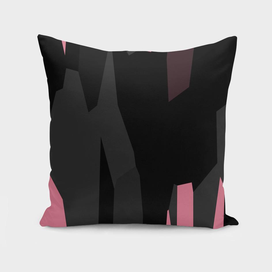 Powder Puff pink black and Gray