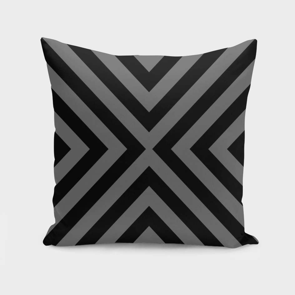 Gray and Black Geometric