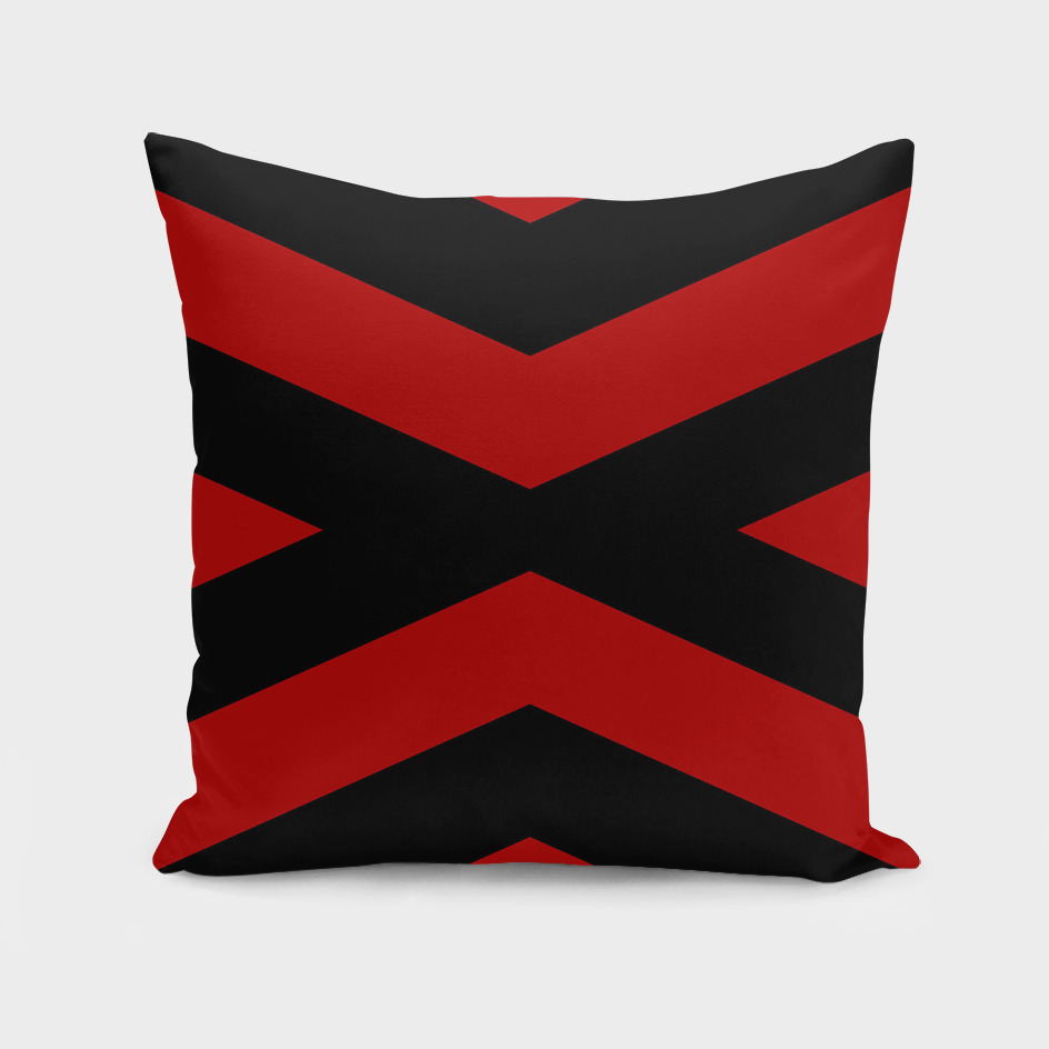 Black and Red X abstract