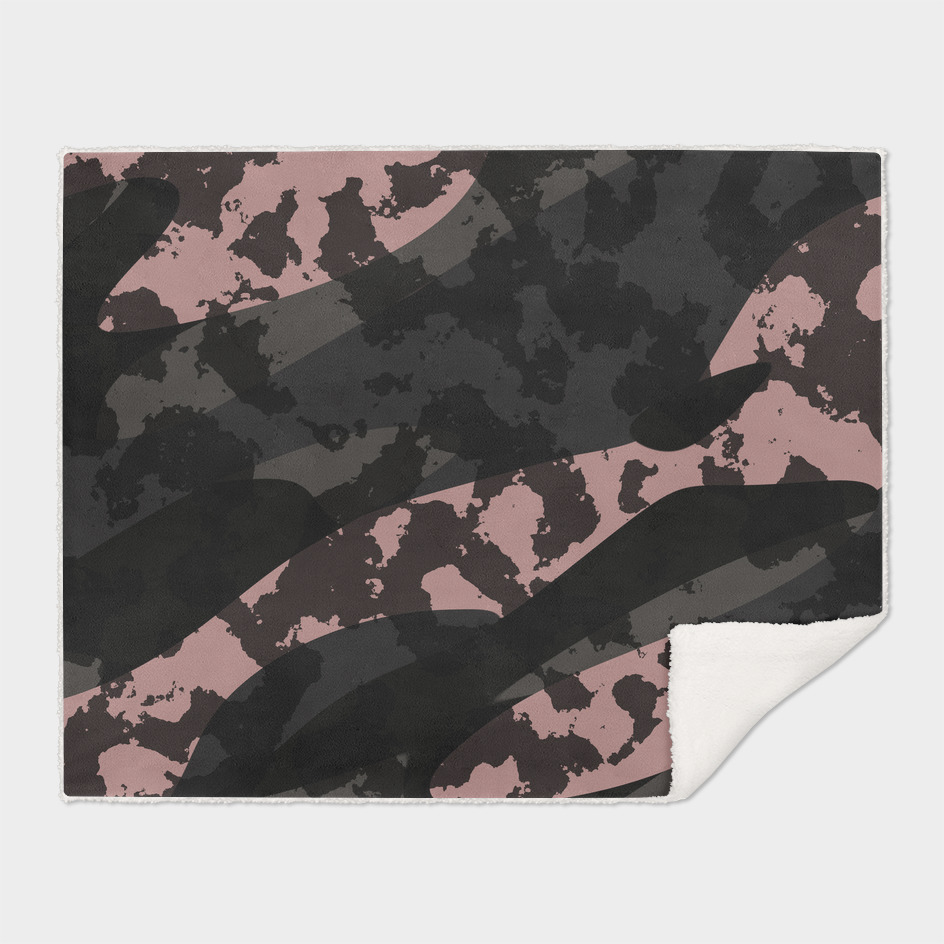 Vintage Pink and Black Camo