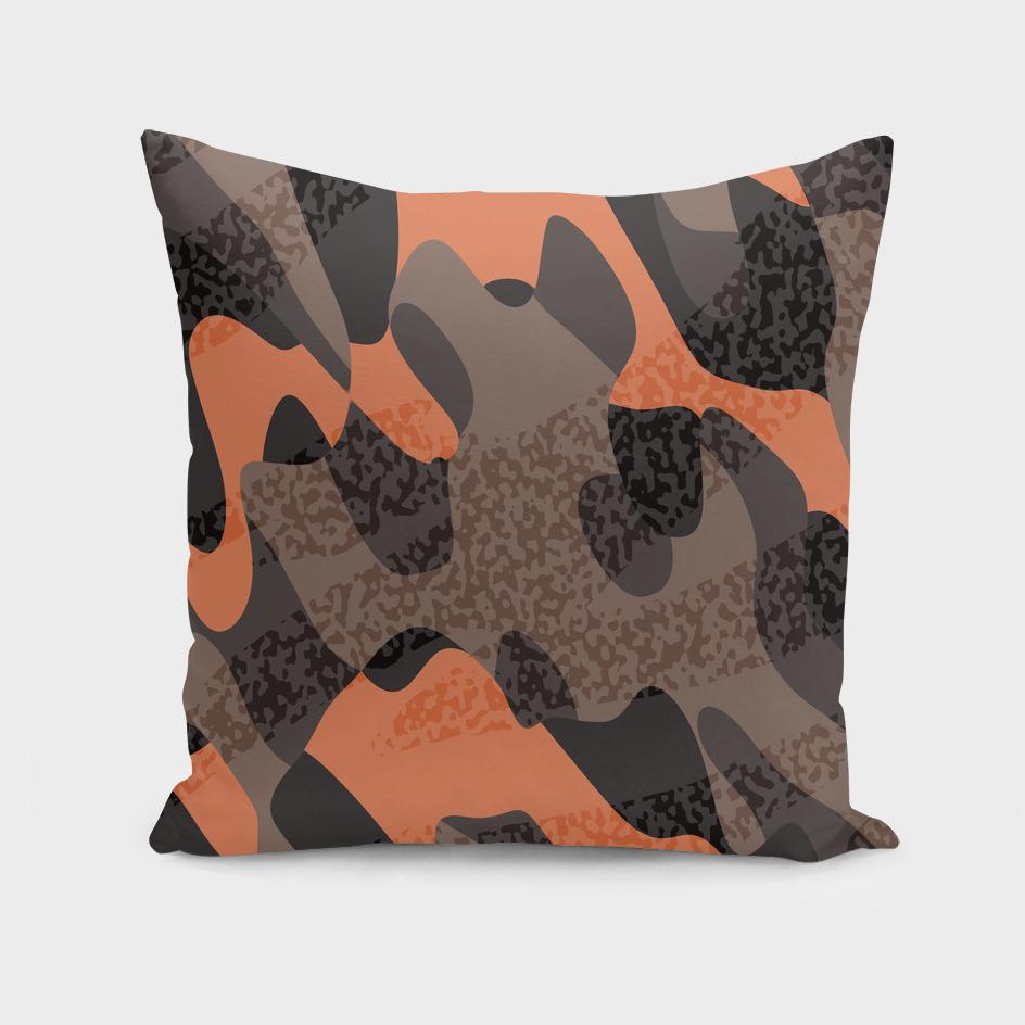 Orange Leopard Camo