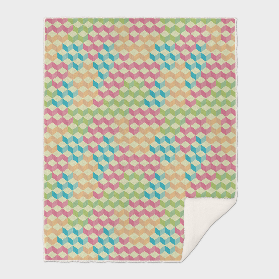 Sugar Cubes Geometric Pattern