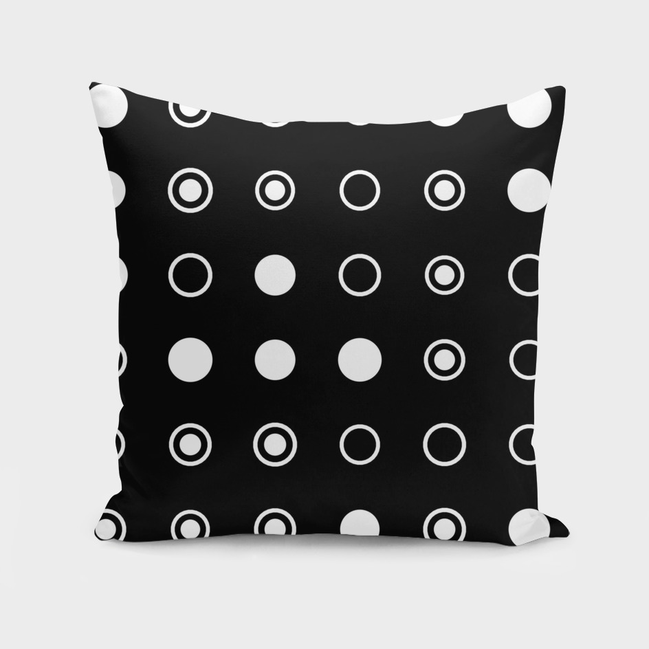Black with White Circles 2
