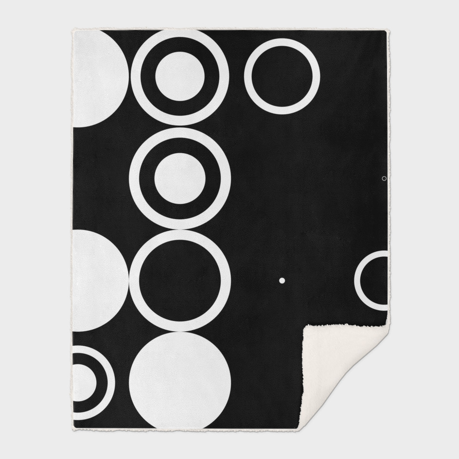 Black with white circles