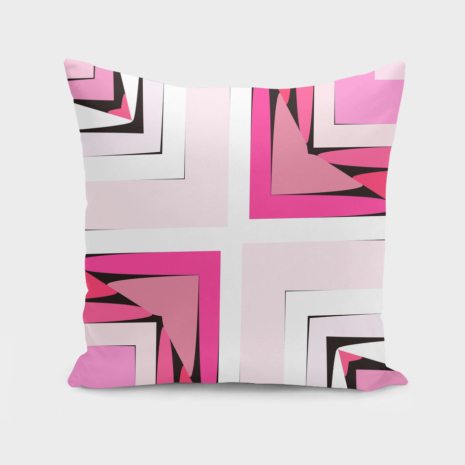 pink black and white abstract 45