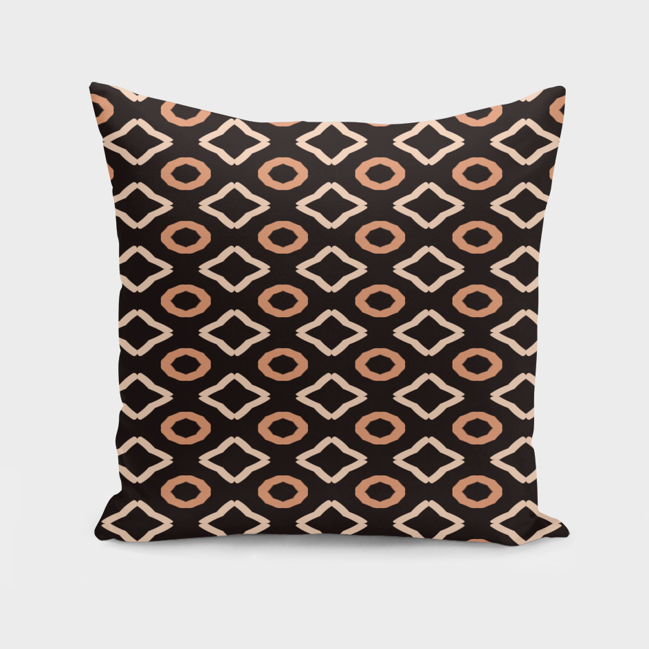 Brown and tan Geometric
