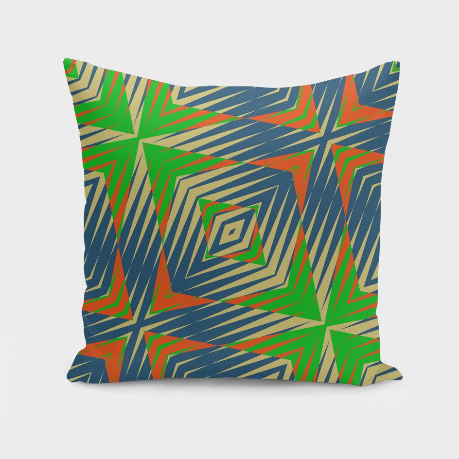 green blue and orange Geometric