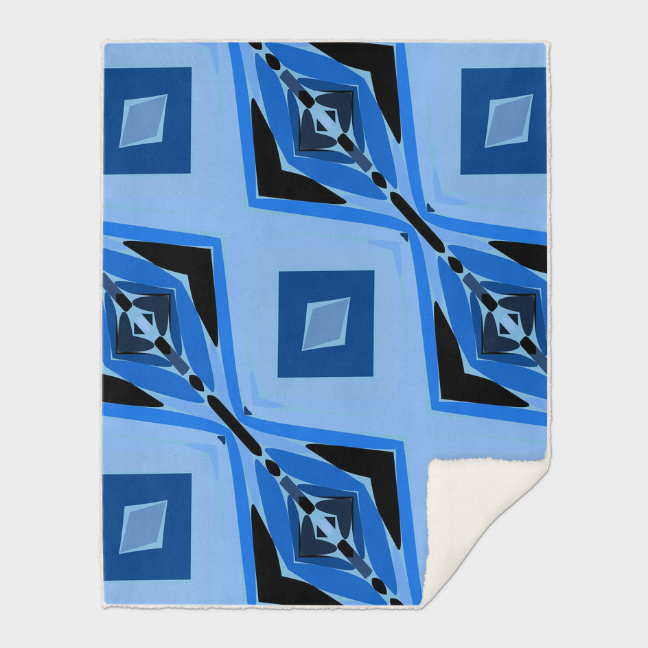 blue and black diamond abstract