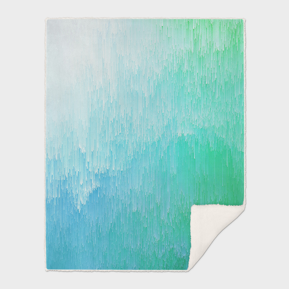 Rainforest - Blue & Green glitch