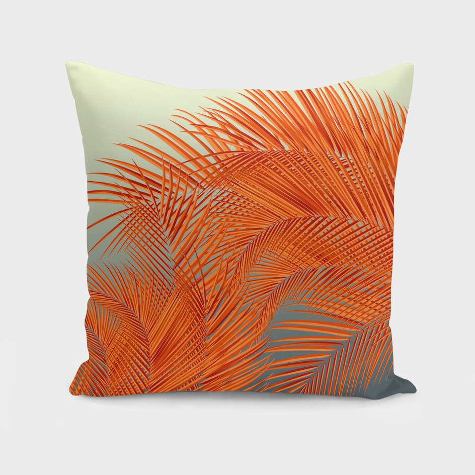 Summer Palm Leaves, Orange