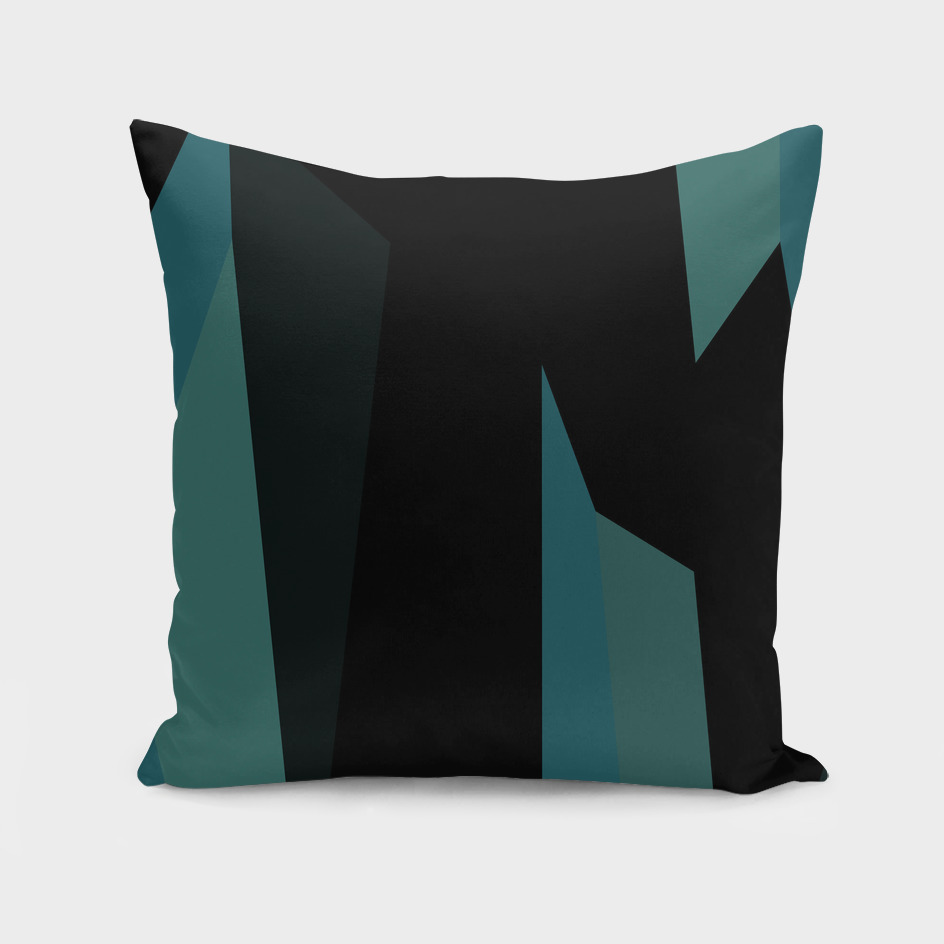 turquoise sea and black