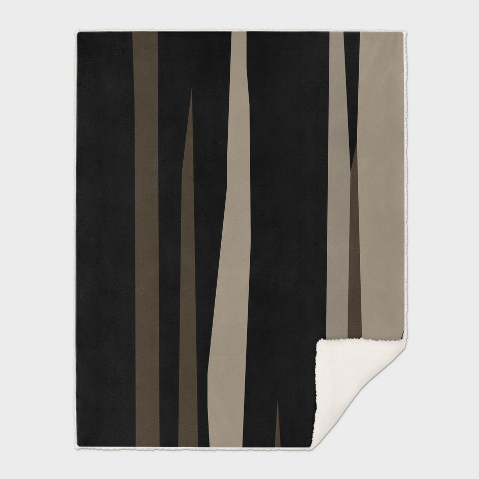 Coffee cream and black abstract streaks