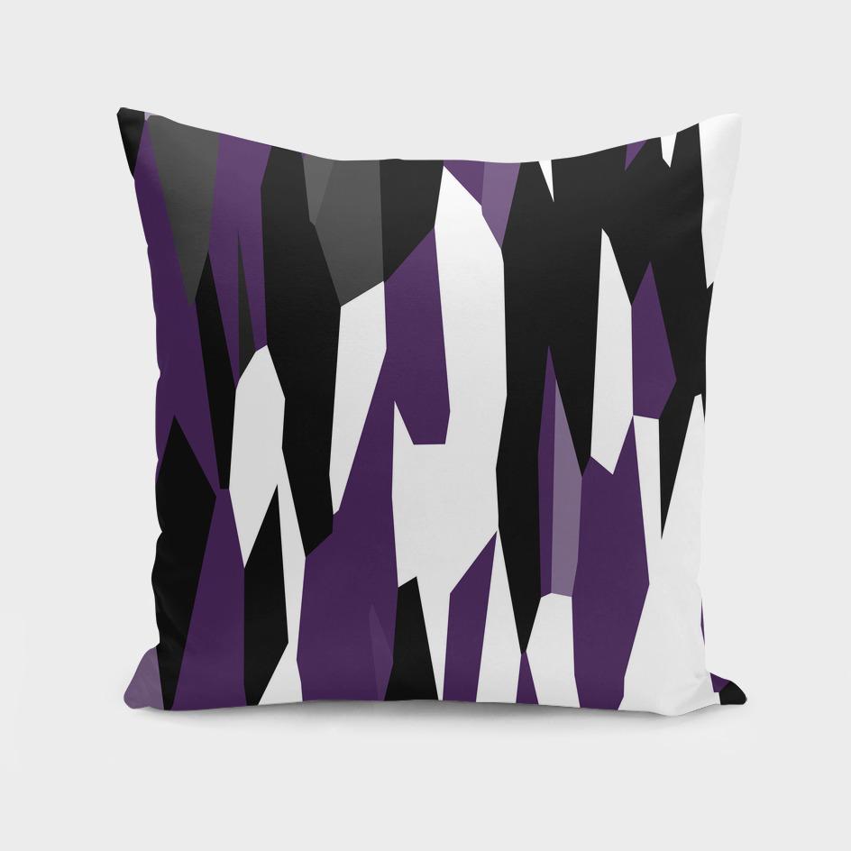 Purple black and white