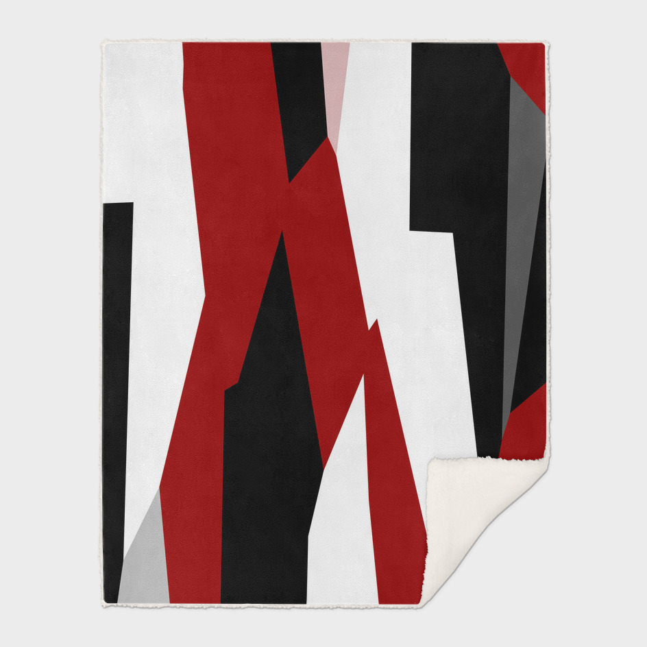 Red black white and gray abstract 64
