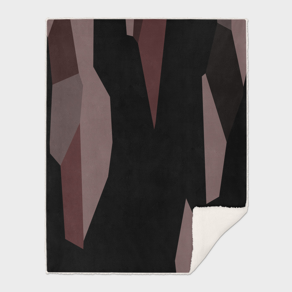 Mauve and black abstract