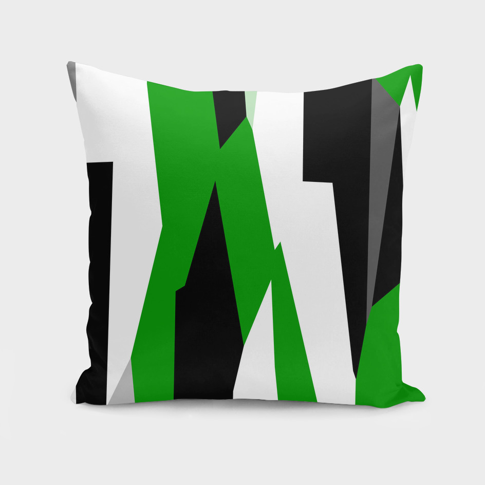 Shamrock Green White and black