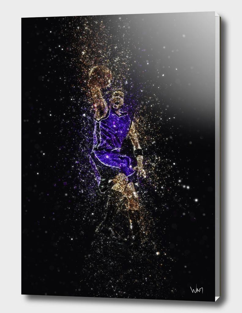 Basketball dunk glitter