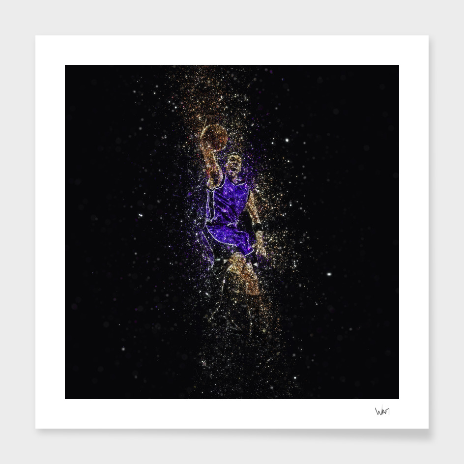 Basketball dunk glitter