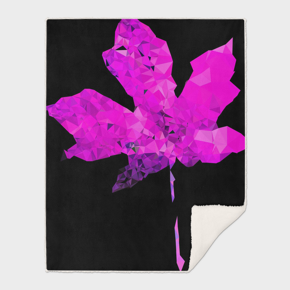 pink geometric polygon maple leaf abstract pattern