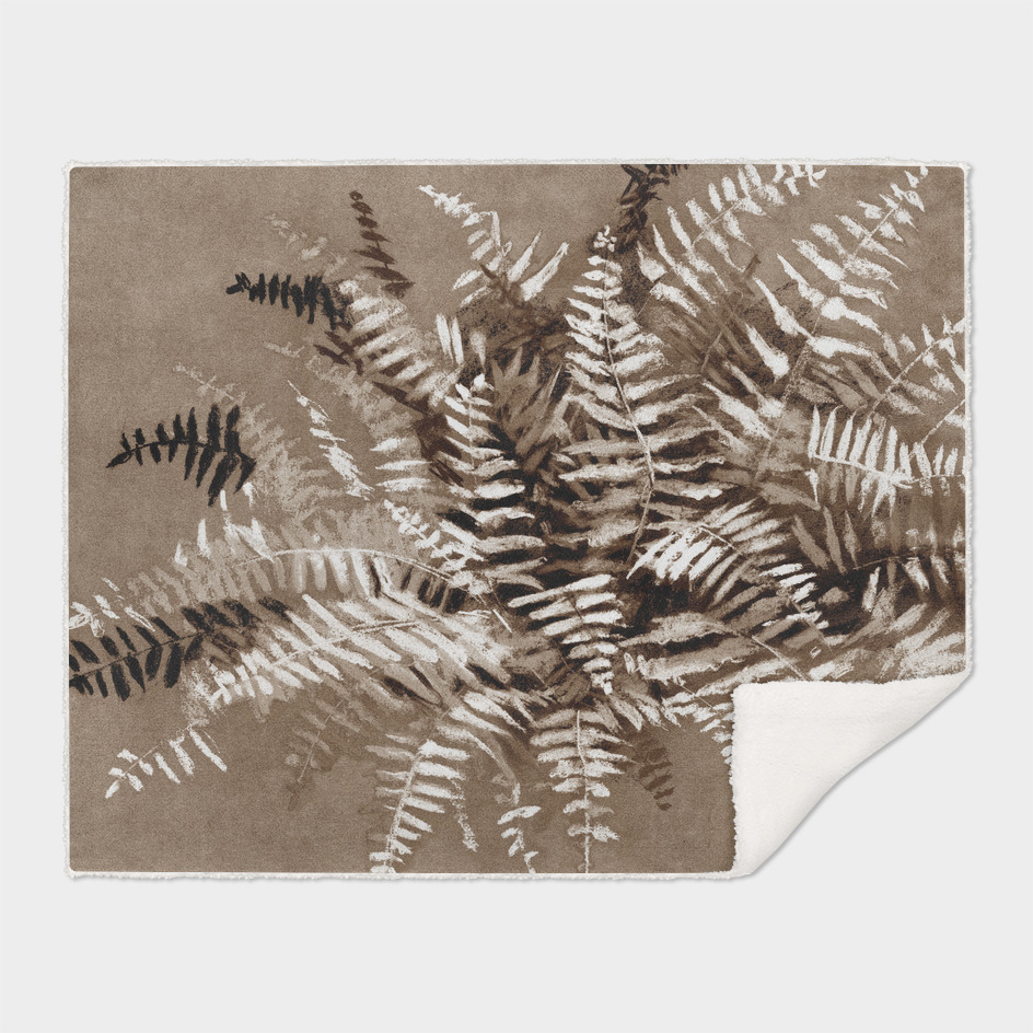 Fern in brown scale