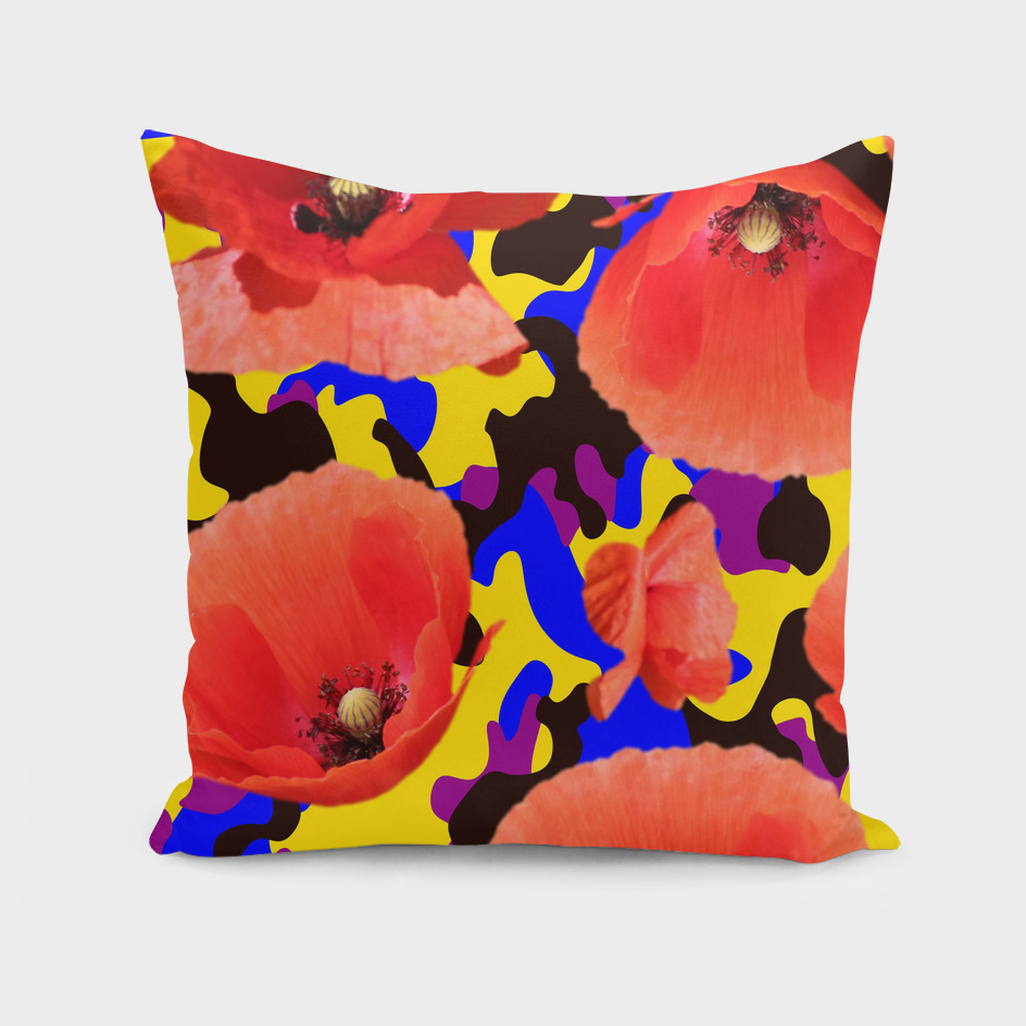 Poppy red-yellow Camouflage