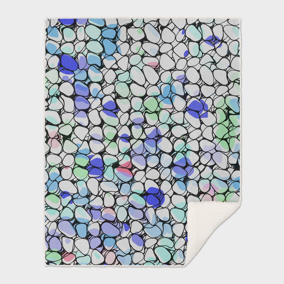 Rainbow splatter pebbles