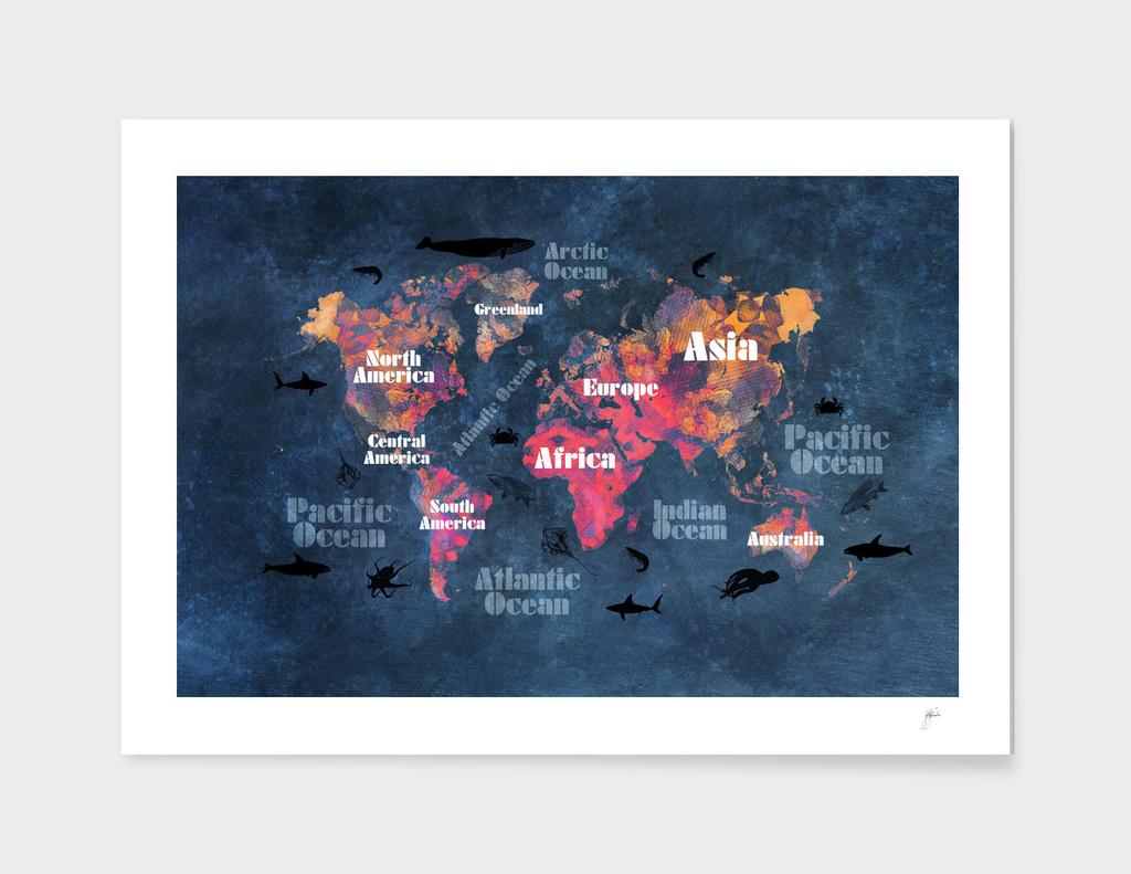 world map 50