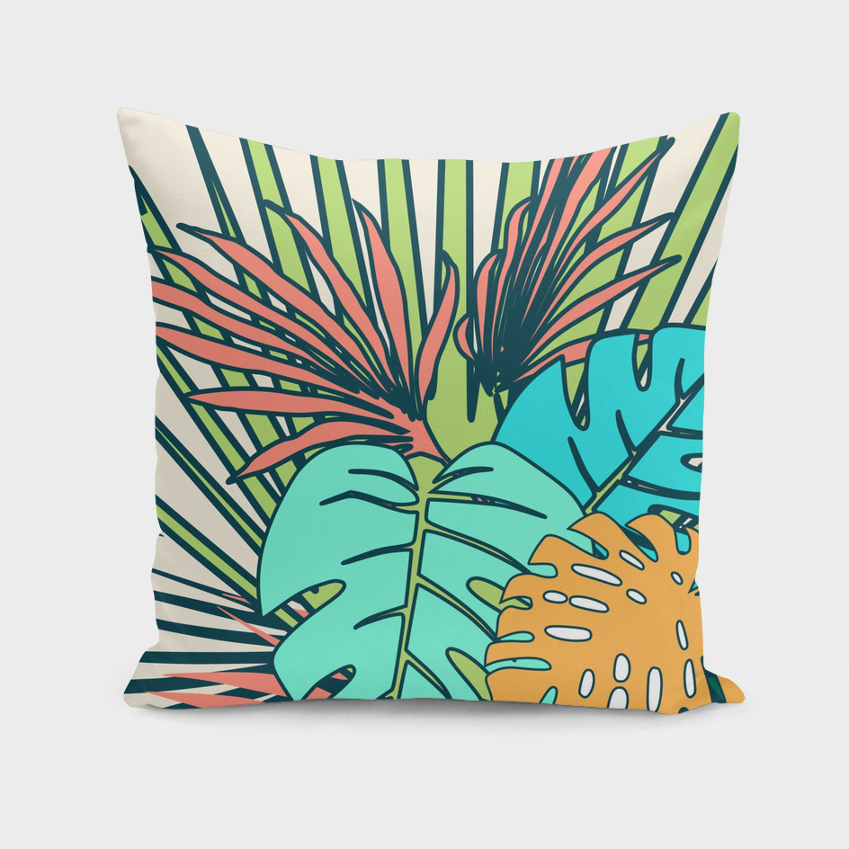 tropical leaves cream