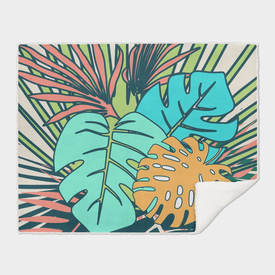 tropical leaves cream