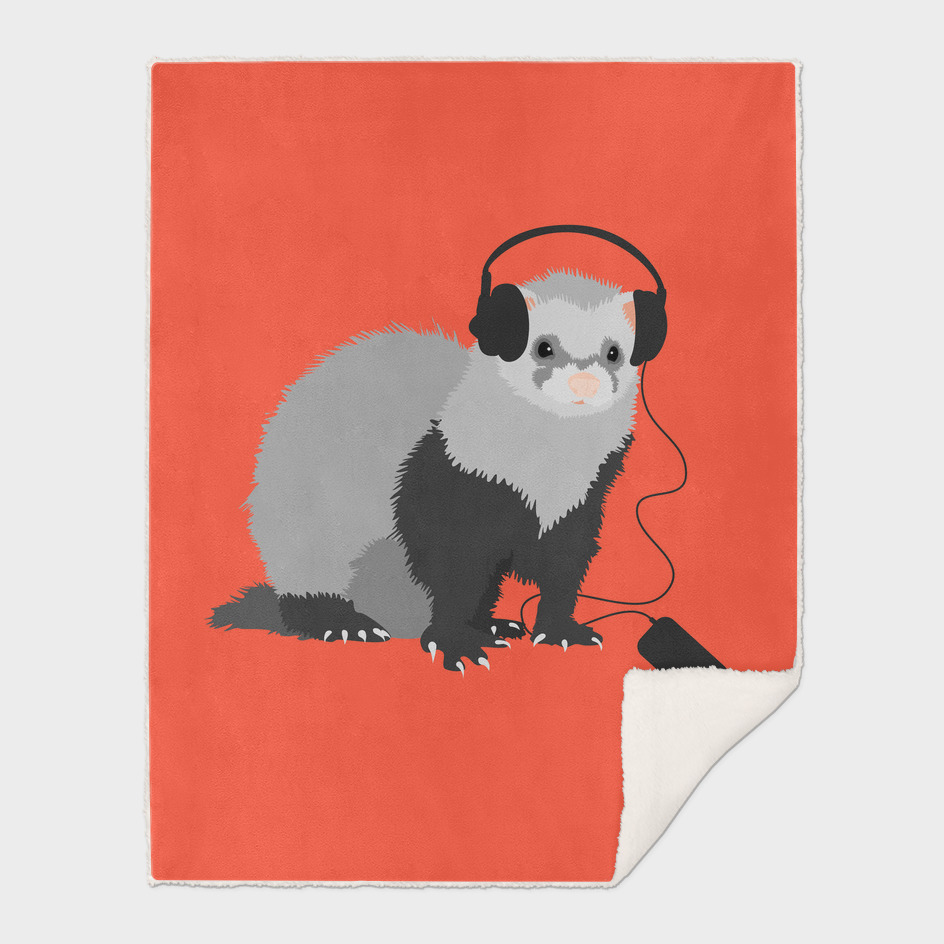 Funny Music Lover Ferret