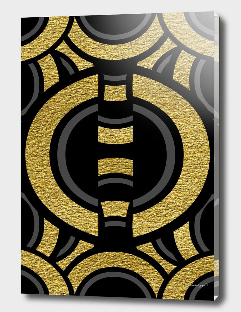 Gold Metallic Semi Circles