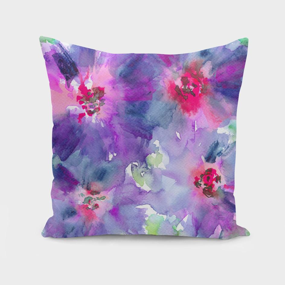 Purple bloom || watercolor