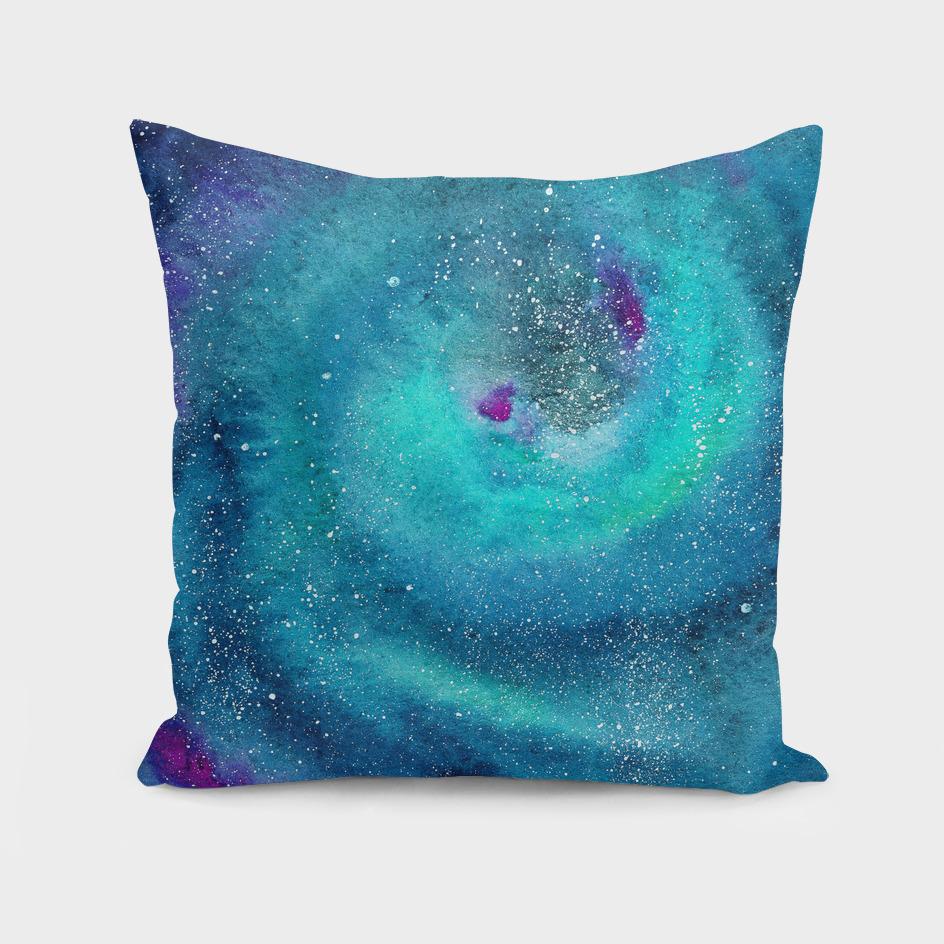 Emerald galaxy || watercolor