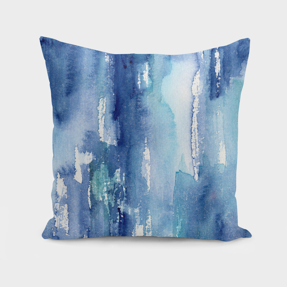 Shabby blue    watercolor