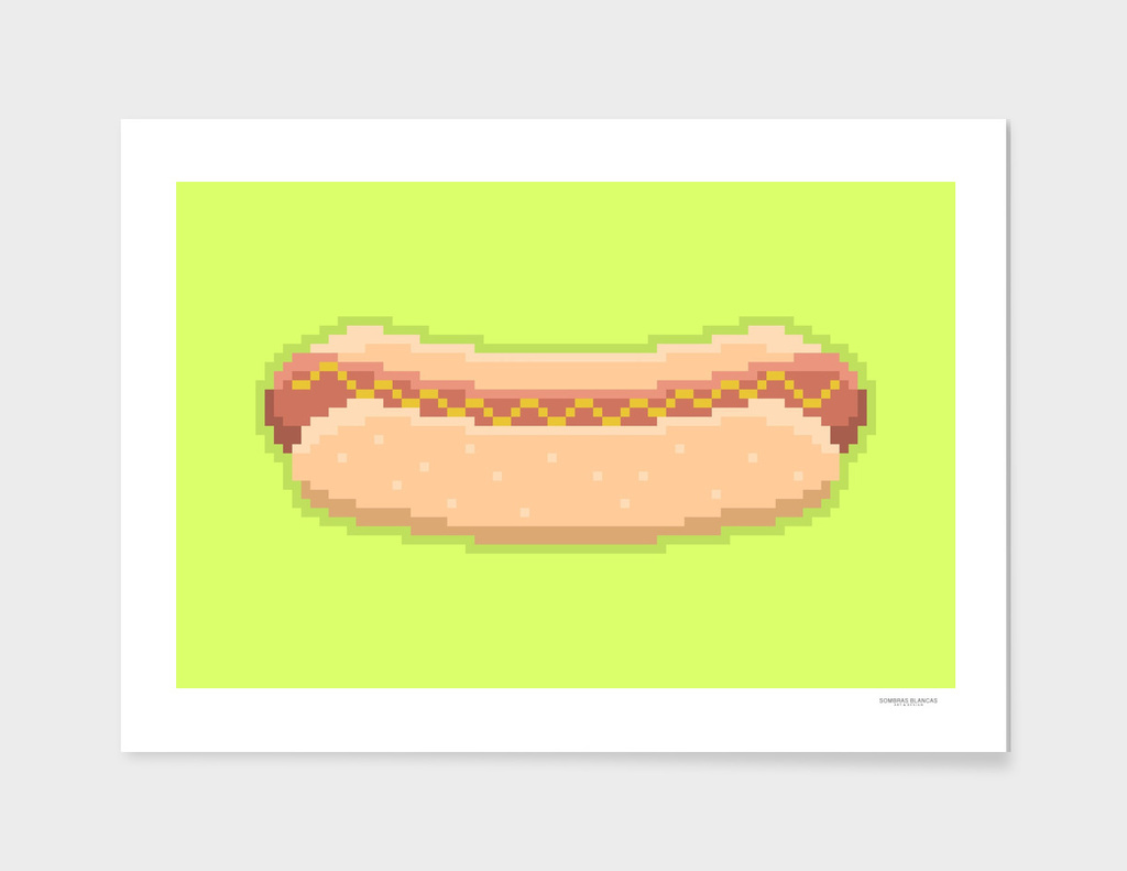 Pixel Hot Dog
