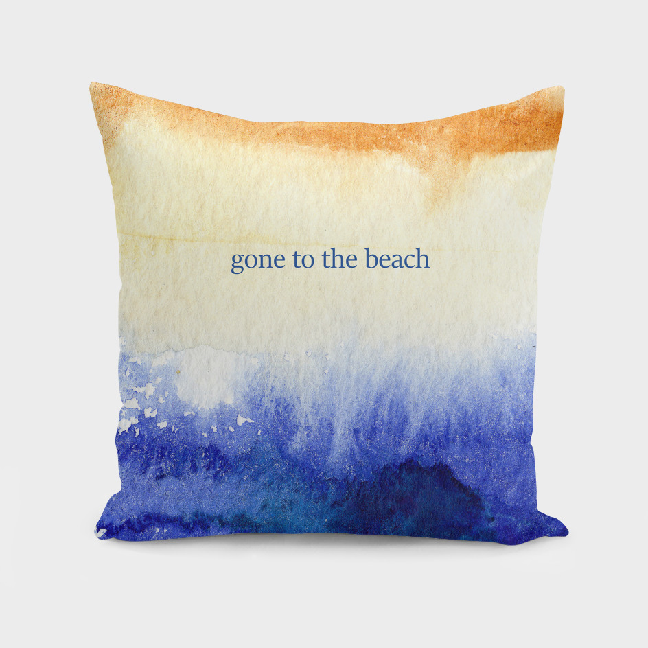 Gone to the beach || watercolor