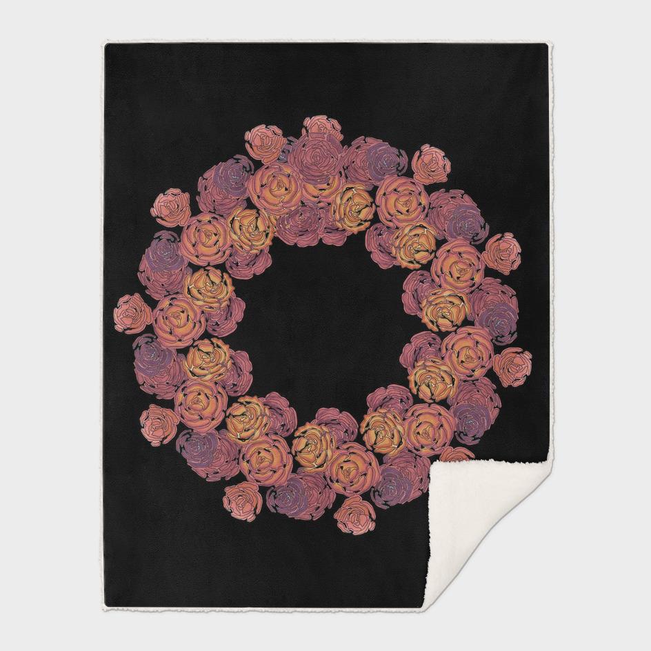 Rosey Rose Wreath, Pink
