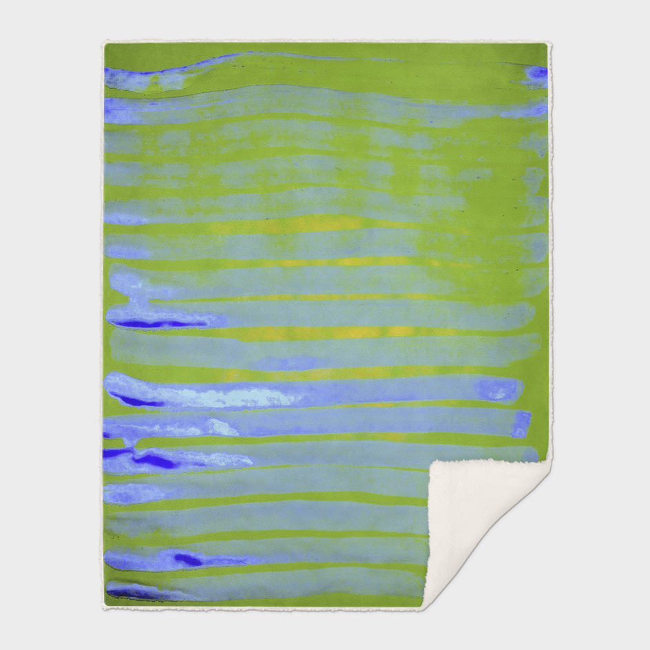Greenery Ocean Blue Stripes
