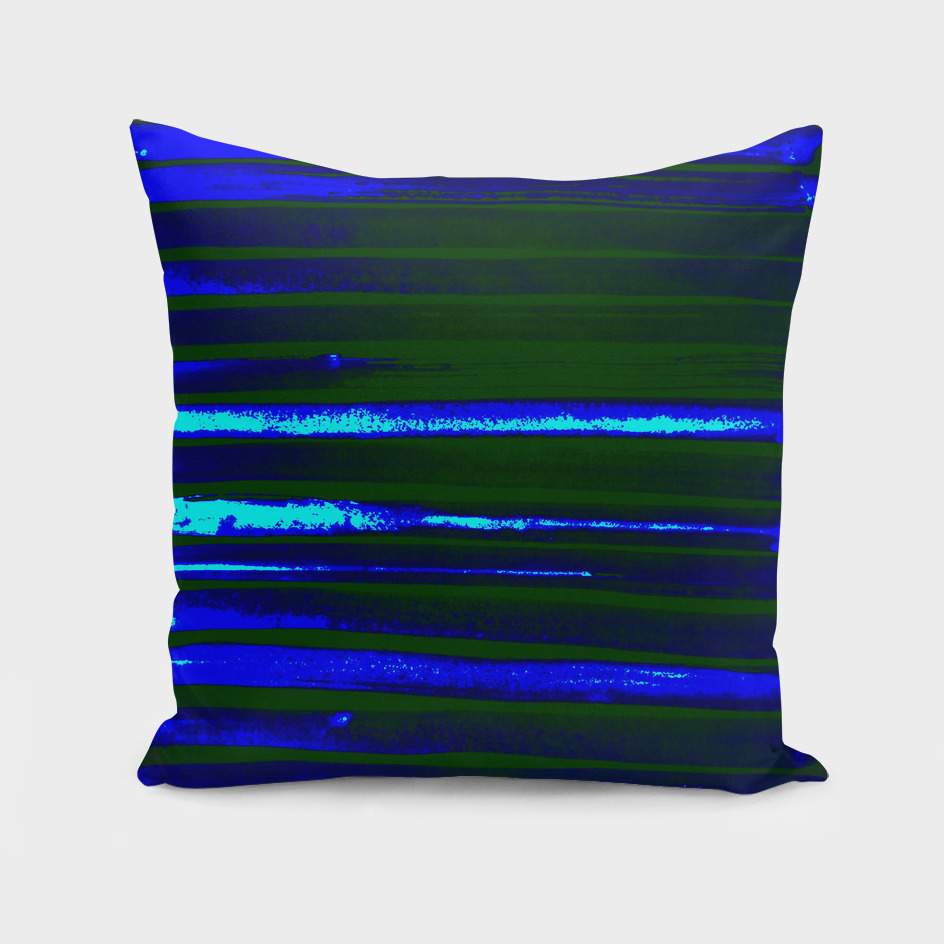 Neon Greenery Blue Lines