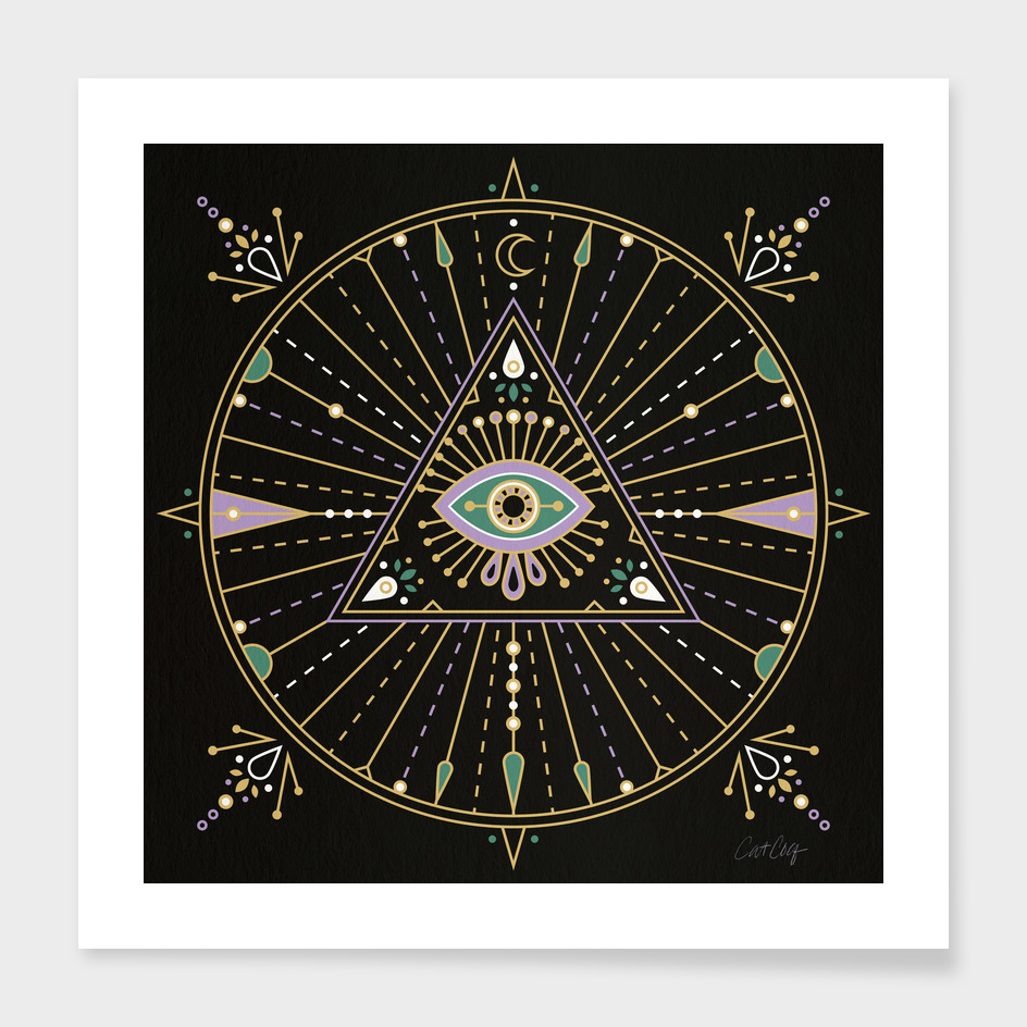 Black Evil Eye Mandala