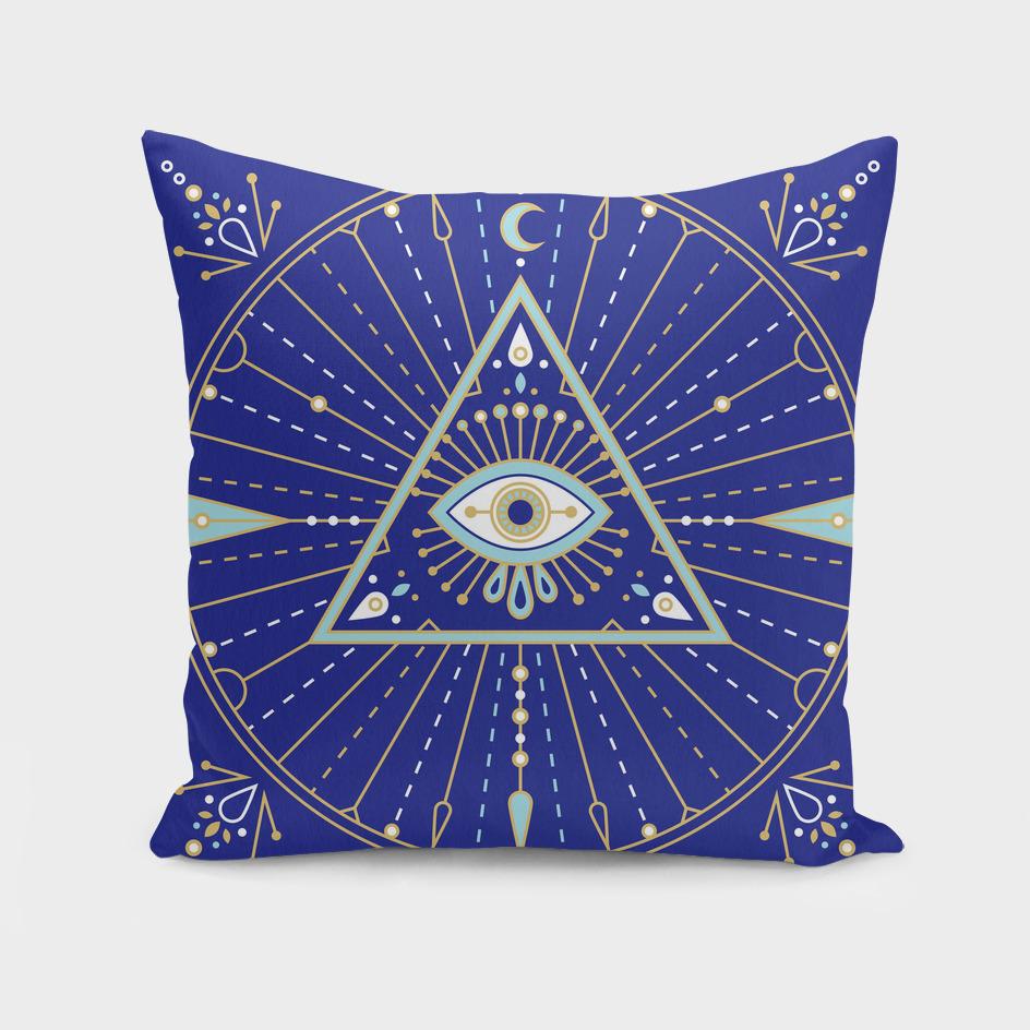 Navy Evil Eye Mandala