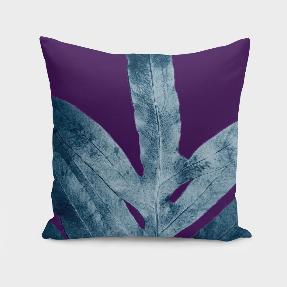 Midnight Sepia Navy Blue Purple Fern