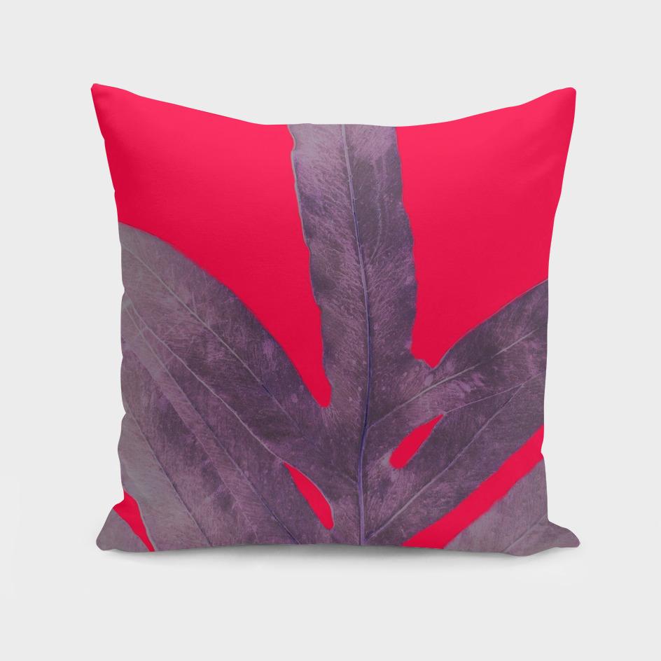 Purple Fern on Red
