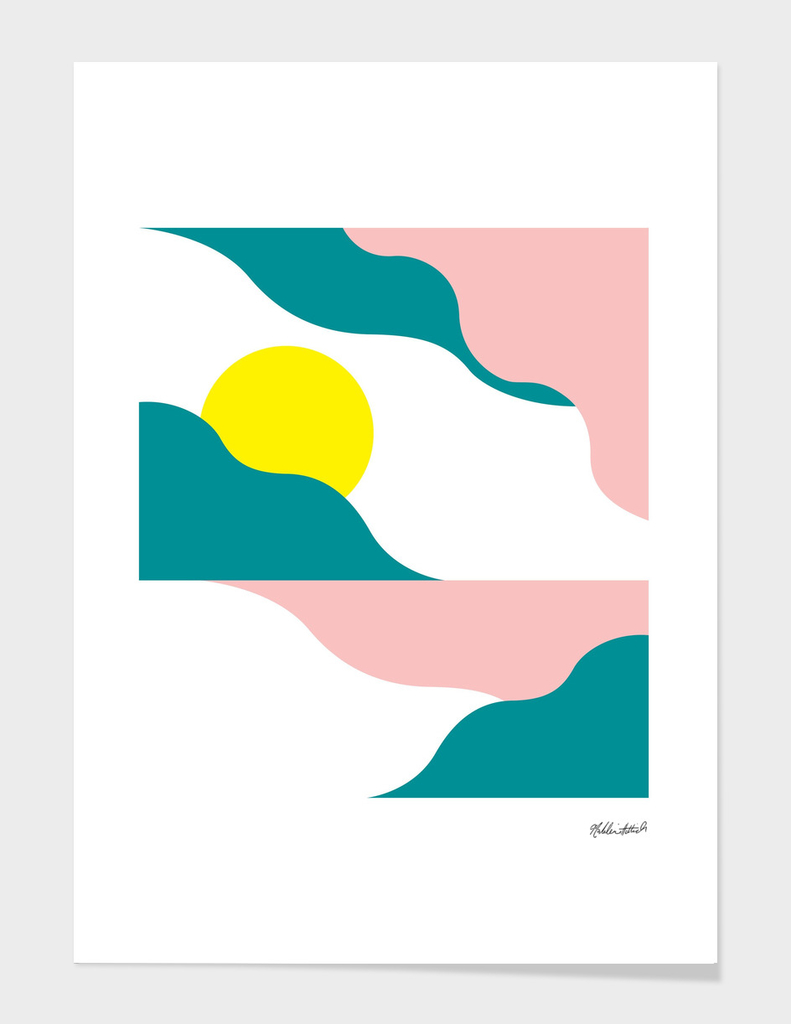 Graphic Sunset Poster 3