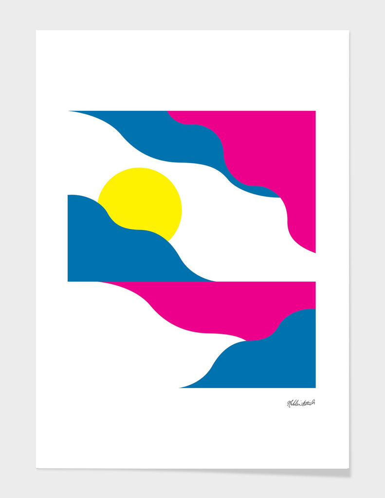Graphic Sunset Poster 2